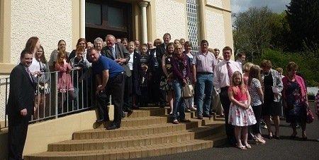 Donegal Town Presbyterian Church Congregation Outside
